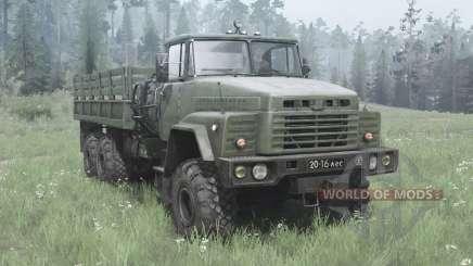 KrAZ 260 dark-grey-green for MudRunner