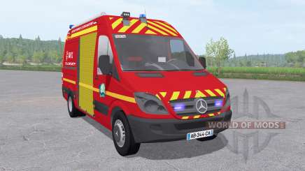 Mercedes-Benz Sprinter 311 CDI Sapeurs-Pompiers for Farming Simulator 2017
