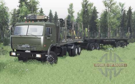KamAZ 43118 for Spin Tires