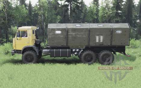 KamAZ 65111 moderately yellow for Spin Tires