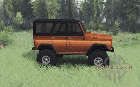 UAZ 469 black and orange for Spin Tires