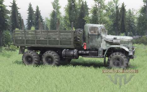 KrAZ 255 6x6-4 for Spin Tires