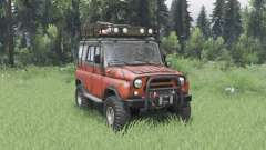 UAZ 31514 moderately red for Spin Tires