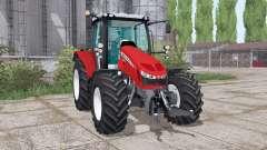 Massey Ferguson 5712 twin wheels for Farming Simulator 2017