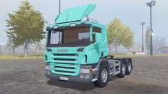 Scania P420 bright turquoise for Farming Simulator 2013