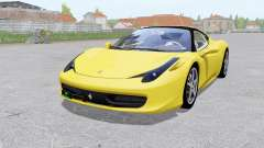 Ferrari 458 Italia 2009 for Farming Simulator 2017
