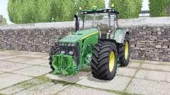 John Deere 8245R 2009 twin wheels for Farming Simulator 2017