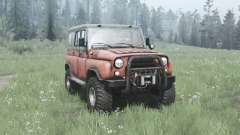 UAZ 31514 1993 on the road for MudRunner