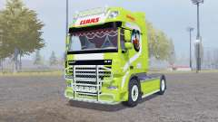 DAF XF105 FT Super Space Cab Claas Edition v1.1 for Farming Simulator 2013