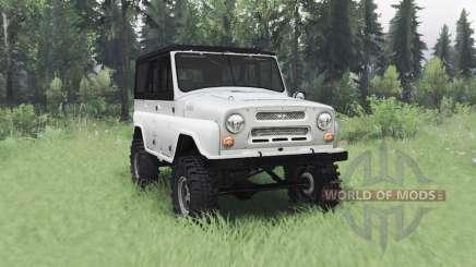 UAZ 469 white for Spin Tires