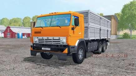 The 6x6 KamAZ 53212 with trailer for Farming Simulator 2015