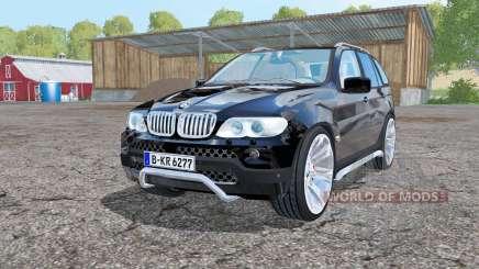 BMW X5 (E53) 2004 black for Farming Simulator 2015