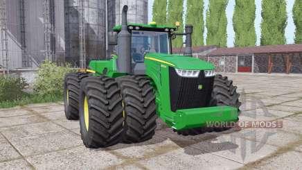 John Deere 9520R twin wheels for Farming Simulator 2017