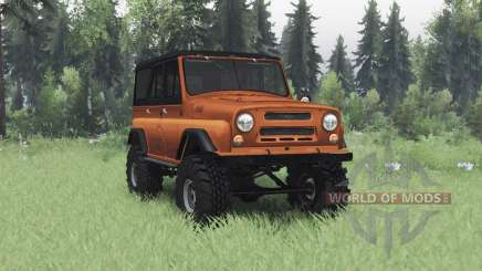 UAZ 469 black and orange for Spin Tires