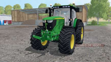 John Deere 6210R lime green for Farming Simulator 2015