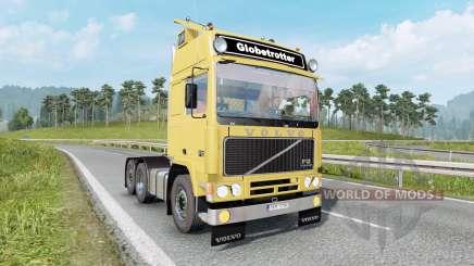 Volvo F12 soft yellow for Euro Truck Simulator 2