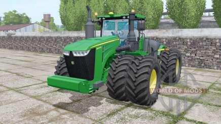 John Deere 9620R twin wheels for Farming Simulator 2017