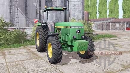 John Deere 4850 twin wheels for Farming Simulator 2017