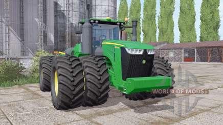 John Deere 9570R twin wheels for Farming Simulator 2017