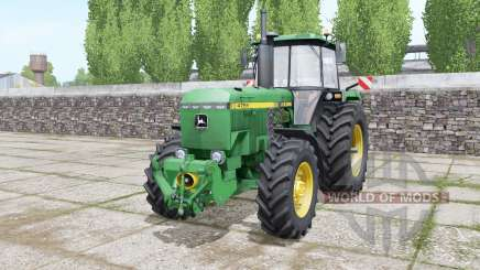 John Deere 4755 double wheels for Farming Simulator 2017