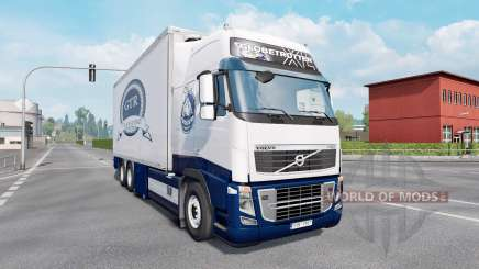 Volvo FH16 750 Globetrotter XL cab 2012 Tandem for Euro Truck Simulator 2