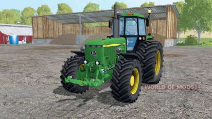 John Deere 4455 twin wheels for Farming Simulator 2015
