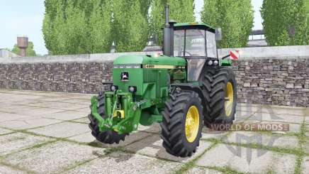 John Deere 4955 twin wheels for Farming Simulator 2017