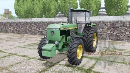 John Deere 4650 1988 twin wheels for Farming Simulator 2017