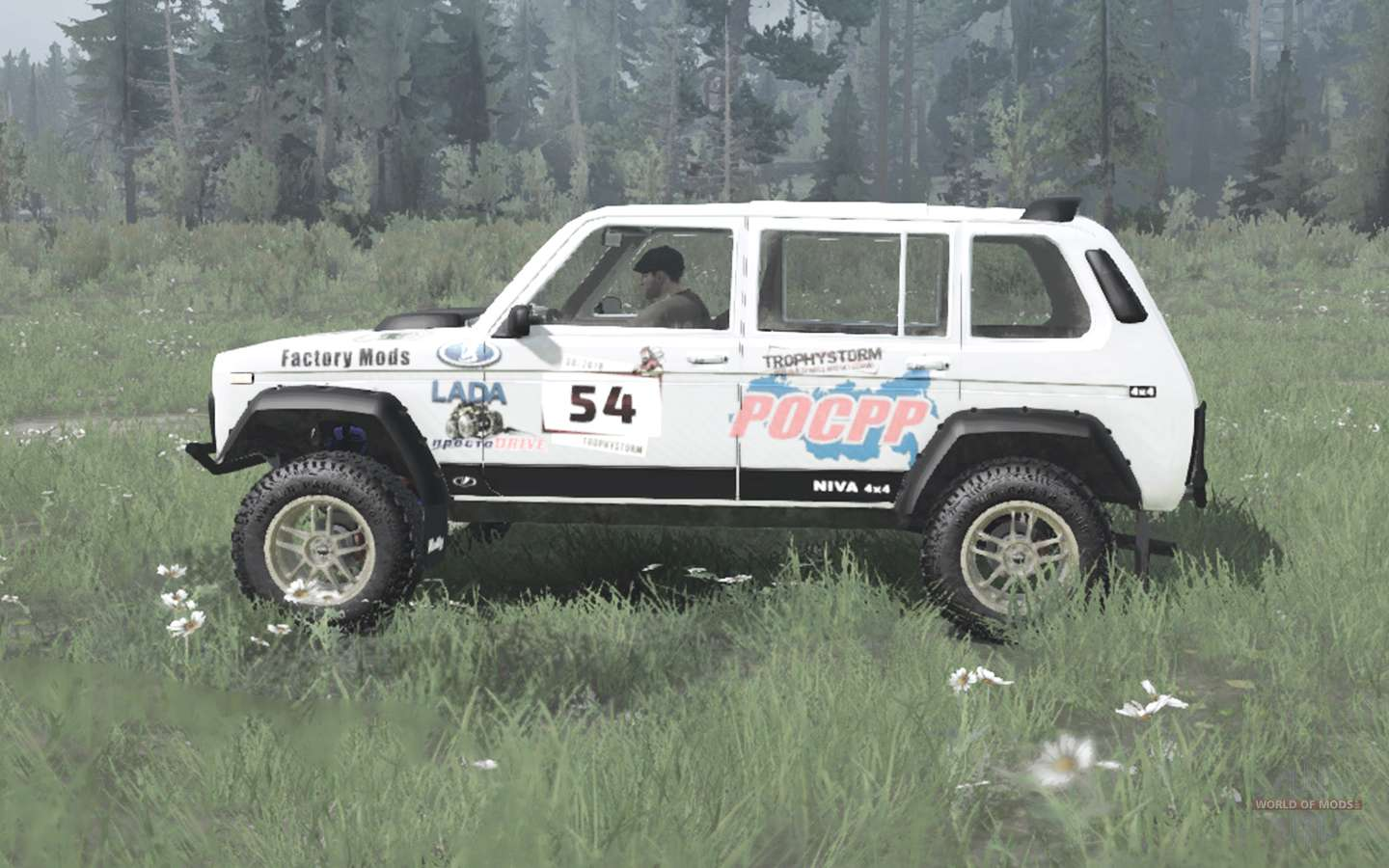 Lada Niva (2131) 1995 Rally V1.1 For MudRunner