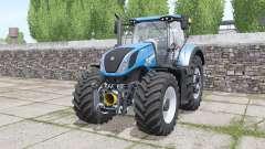 New Holland T7.290 Heavy Duty bright blue for Farming Simulator 2017