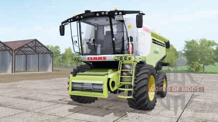 Claas Lexion 780 yellow-green with headers for Farming Simulator 2017