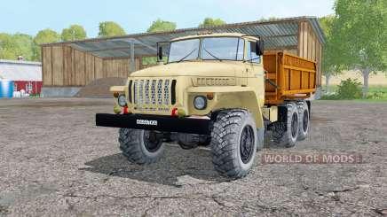 Ural 5557 light grayish-yellow for Farming Simulator 2015