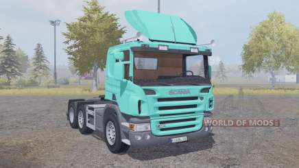 Scania P420 bright turquoise v2.2 for Farming Simulator 2013
