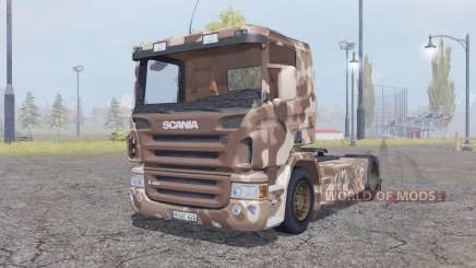 Scania R420 desert camo for Farming Simulator 2013