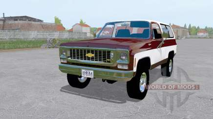 Chevrolet K5 Blazer 1973 dark desaturated pink for Farming Simulator 2017