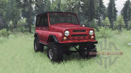 UAZ 469 red v1.1 for Spin Tires