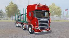 Scania R730 V8 Topline 8x8 Timber Truck for Farming Simulator 2013
