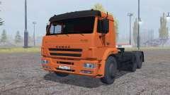 KamAZ 6460 with trailer SZAP 9327 for Farming Simulator 2013
