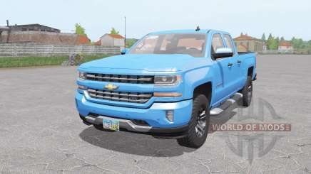 Chevrolet Silverado Z71 Double Cab 2016 for Farming Simulator 2017