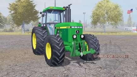 John Deere 4455 double wheels for Farming Simulator 2013