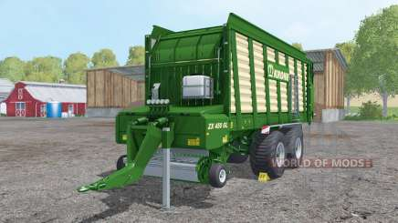 Krone ZX 450 GL doubled collecting speed for Farming Simulator 2015