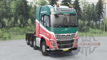 Volvo FH16 750 8x4 tractor Globetrotter cab for Spin Tires