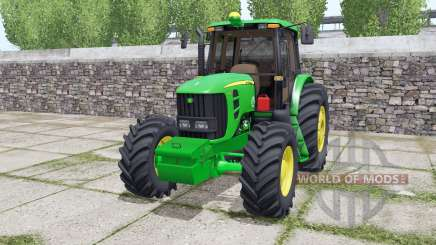 John Deere 6180J double wheels for Farming Simulator 2017