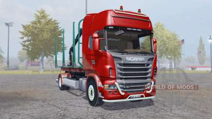 Scania R730 V8 Topline 4x4 Timber Truck for Farming Simulator 2013
