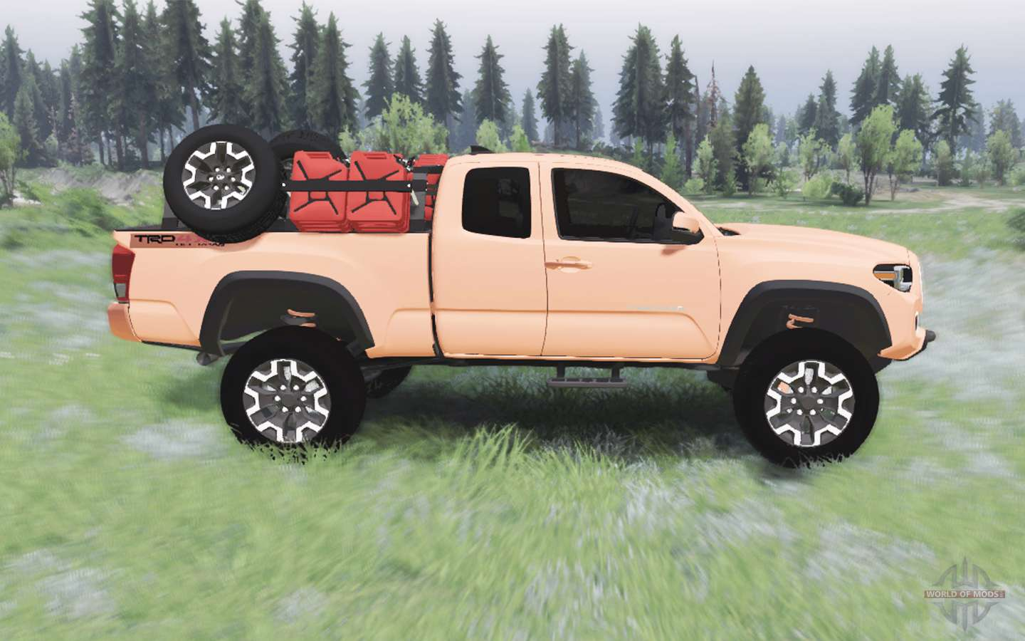 Toyota Tacoma Mods >> Toyota Tacoma Trd Off Road Access Cab 2016 For Spin Tires