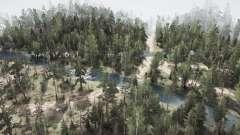Siberian jungle for MudRunner