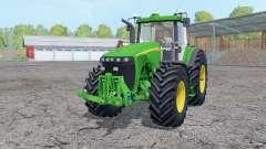John Deere 8520 working mirrors for Farming Simulator 2015