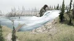 Mountain river for MudRunner
