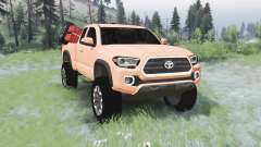 Toyota Tacoma TRD Off-Road Access Cab 2016 for Spin Tires