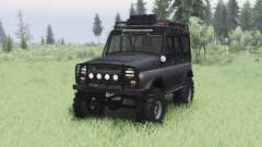 UAZ 469 black v1.2 for Spin Tires